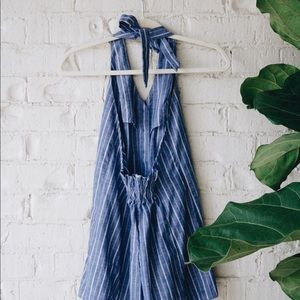Other - Pinstriped Romper